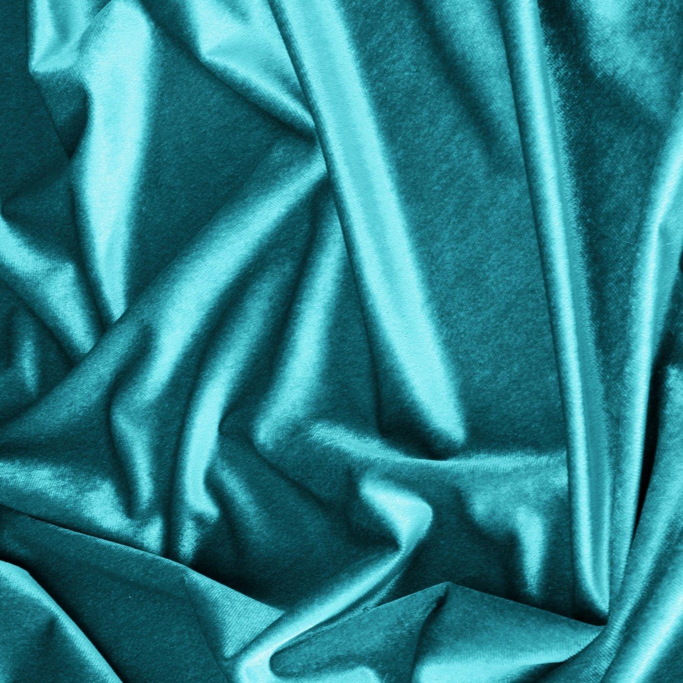 Zasłona WELWETOWA na przelotkach TURKUSOWA 140x250