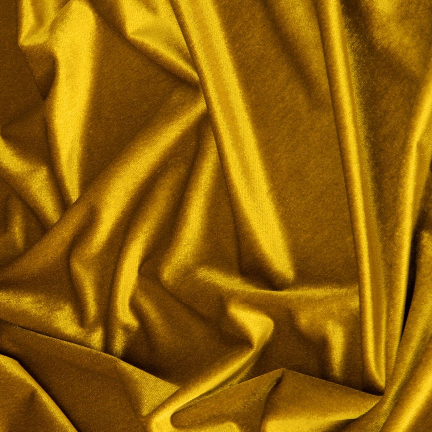 Zasłona WELWETOWA na przelotkach MUSZTARDOWA 140x270