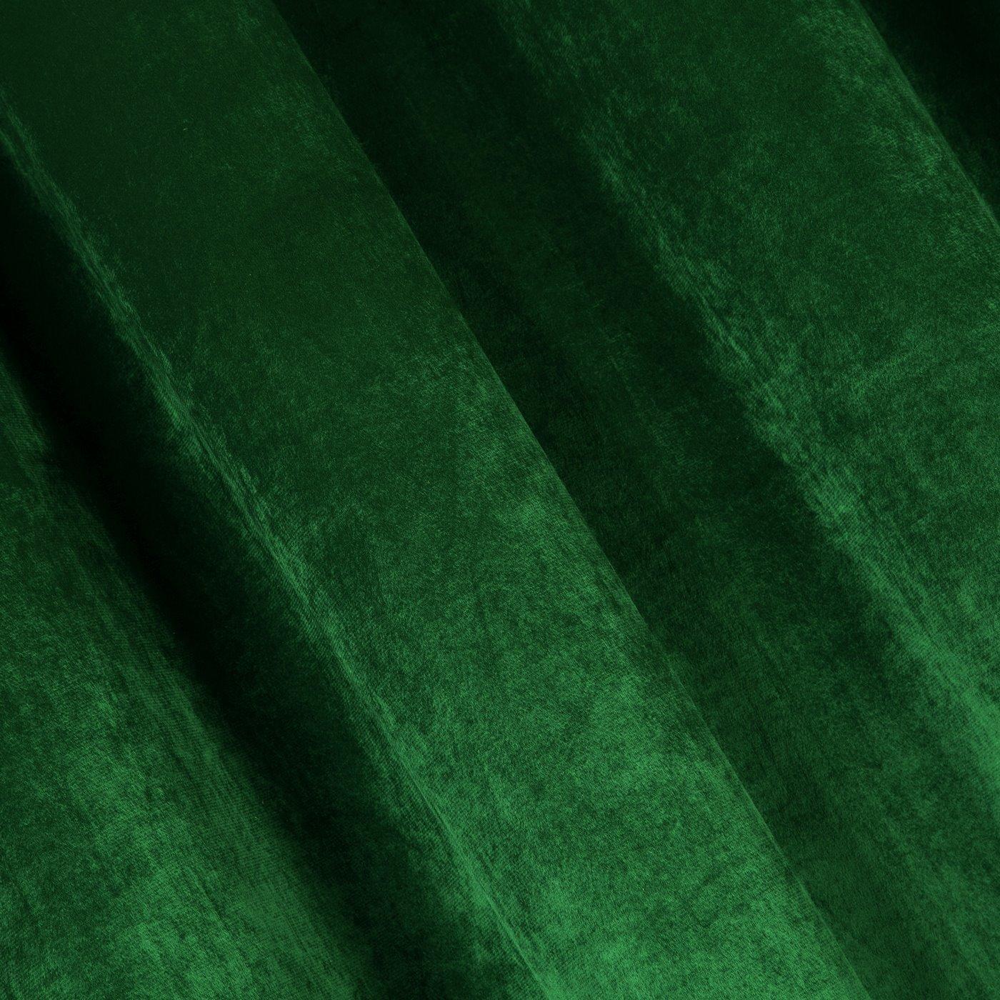 Zasłona welwetowa na taśmie marszczącej zielona 140x270cm