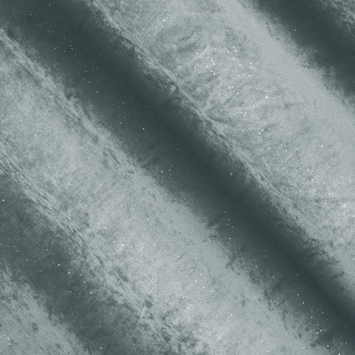 Grafitowa ZASŁONA WELWETOWA z brokatem na przelotkach 140x250 cm