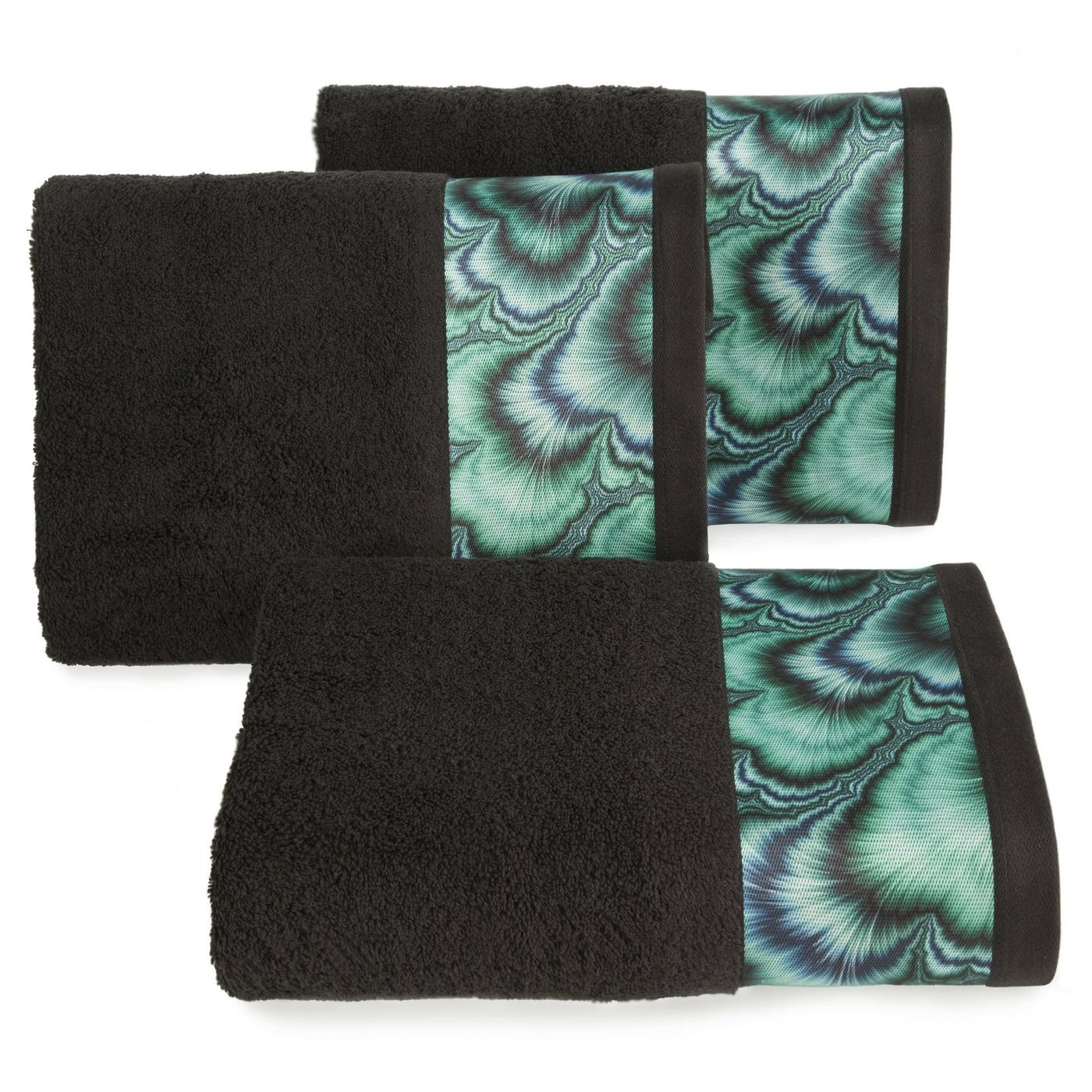 Czarny ręcznik kąpielowy - mój wybór Eva Minge 50x90 cm