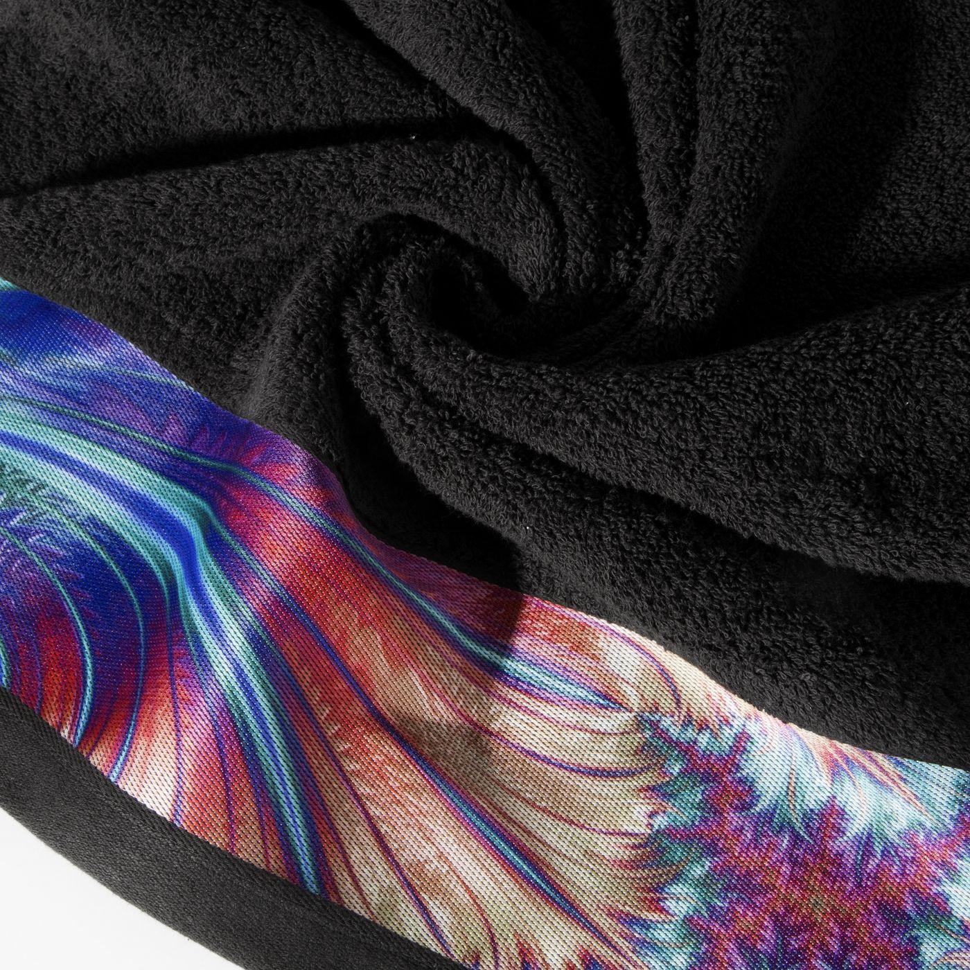 Czarny ręcznik kąpielowy - mój wybór Eva Minge - 50x90 cm