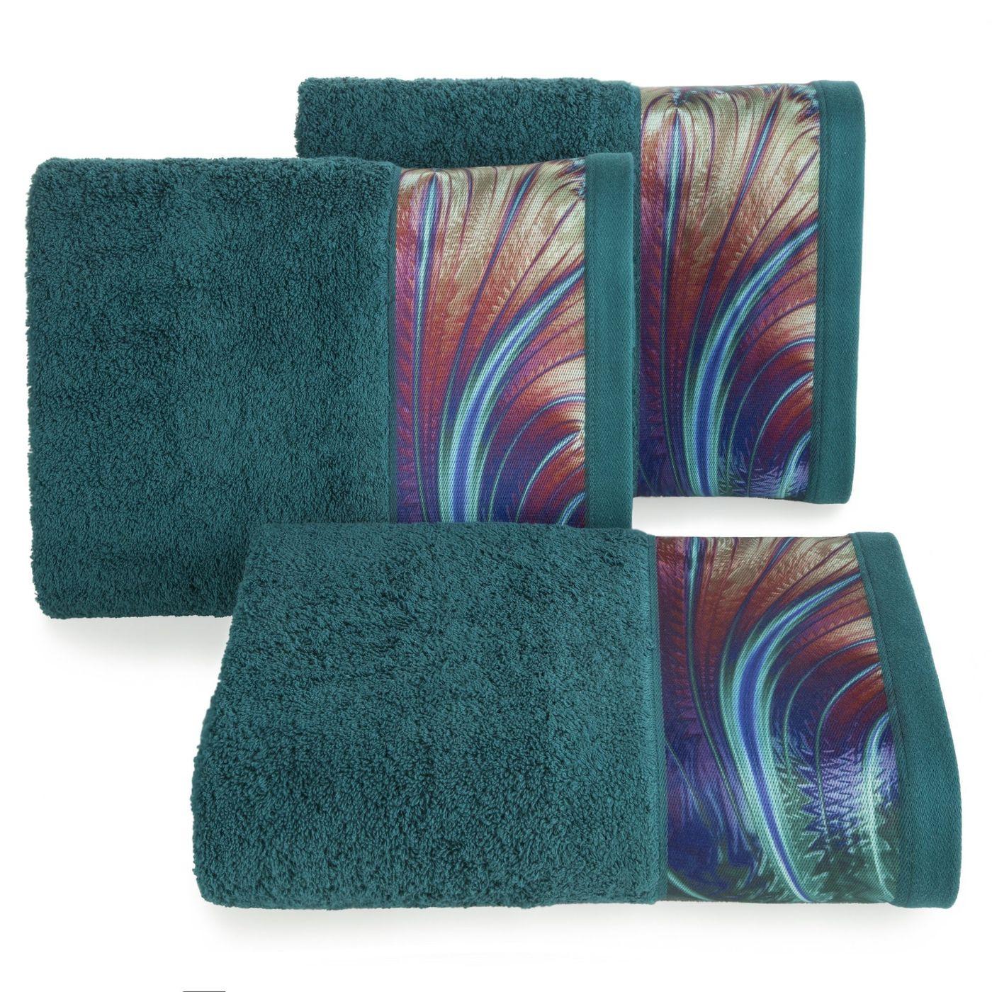 Turkusowy ręcznik kąpielowy - mój wybór Eva Minge - 50x90 cm