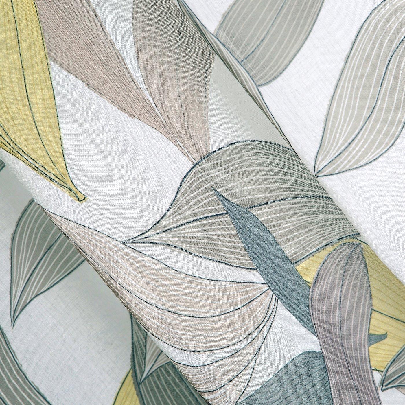 Zasłony wzór w liście naturalna kolorystyka przelotki 140x250 cm