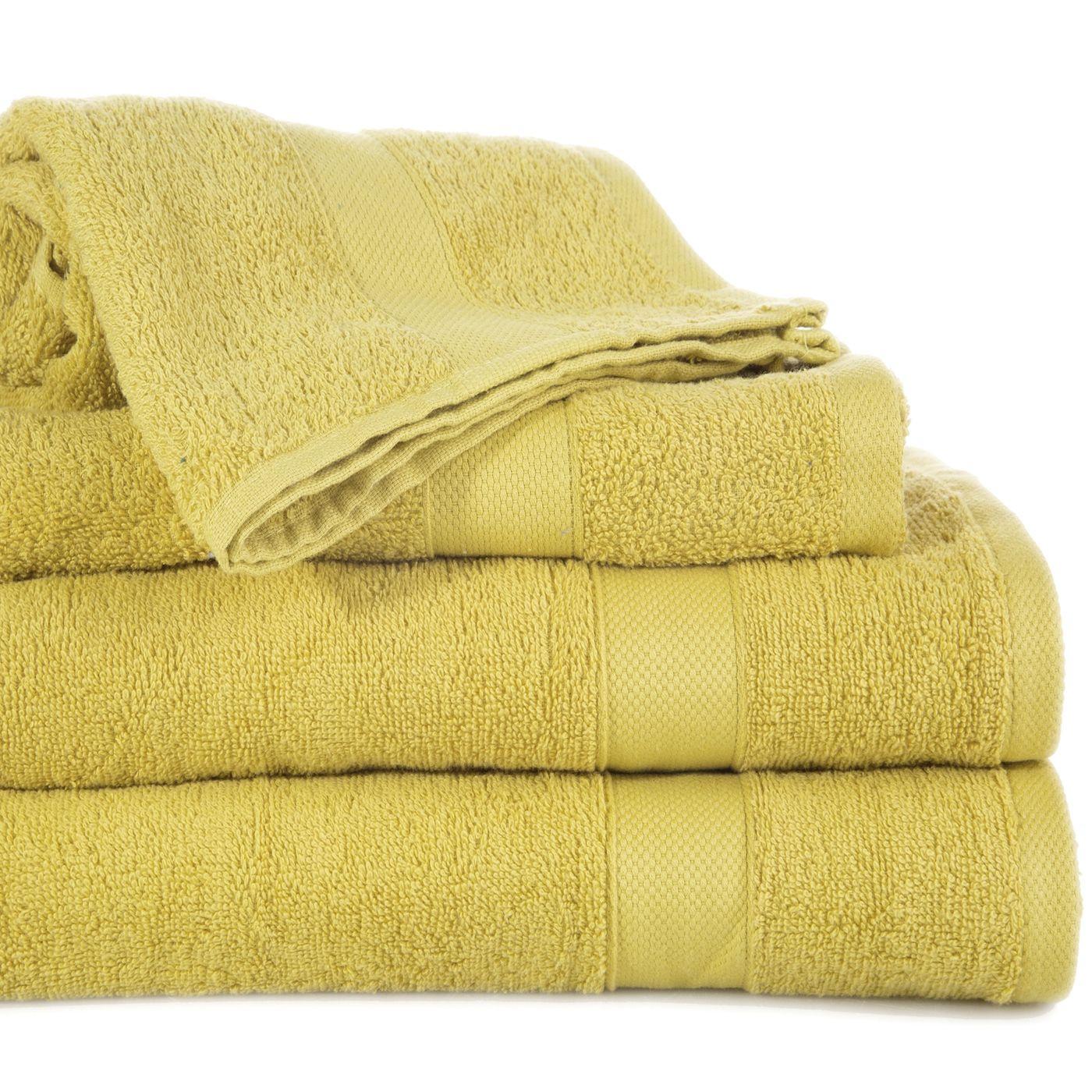 Miekki chłonny ręcznik kąpielowy musztardowy 50x90