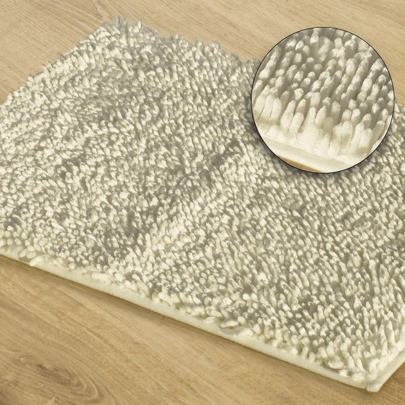 Kremowy dywan shaggy łazienkowy 50x70 cm