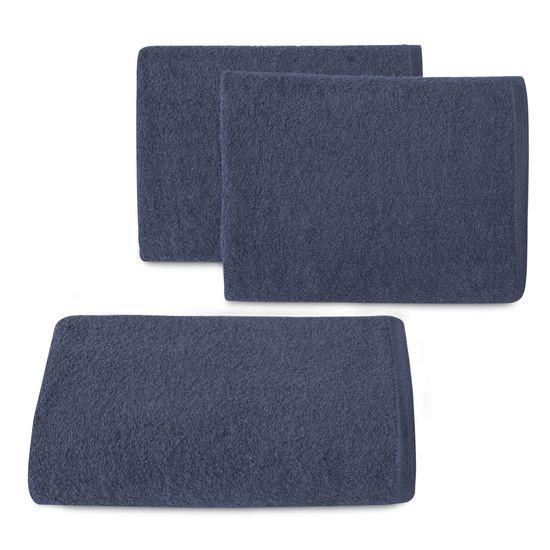 Ręcznik z bawełny gładki 70x140cm - 70 X 140 cm - granatowy