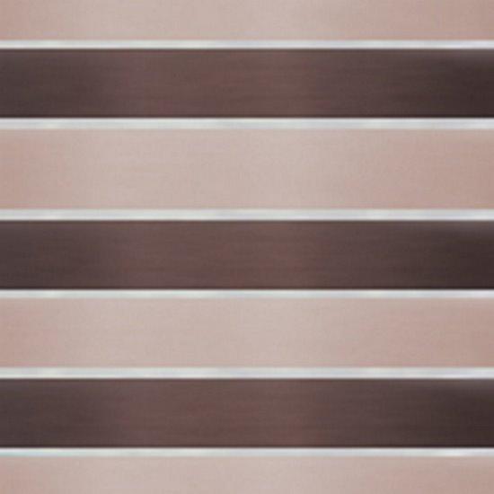 Zasłona Poziome Atłasowe Pasy Organza Brązowy Beżowy Przelotki 140X250Cm - 140x250
