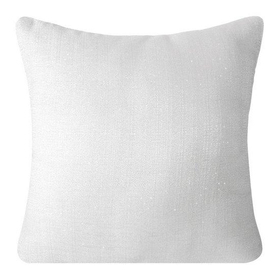 Poszewka na poduszkę gładka biała 40 x 40 cm  - 40 X 40 cm