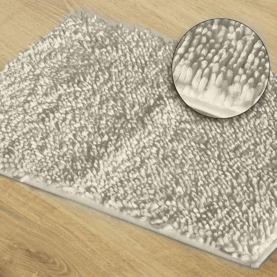 Biały dywan shaggy łazienkowy 60x90 cm - 60 x 90 cm