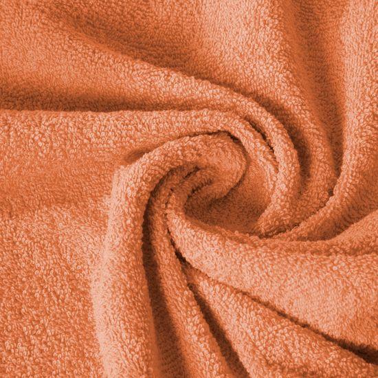 Ręcznik z bawełny gładki pomarańczowy 50x90cm - 50x90