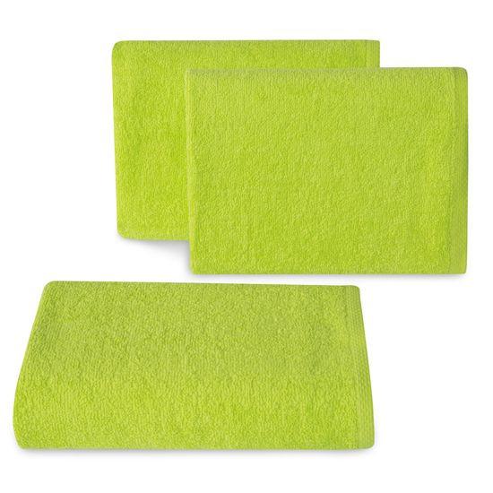 Ręcznik z bawełny gładki sałata 50x90cm - 50 X 90 cm - zielony