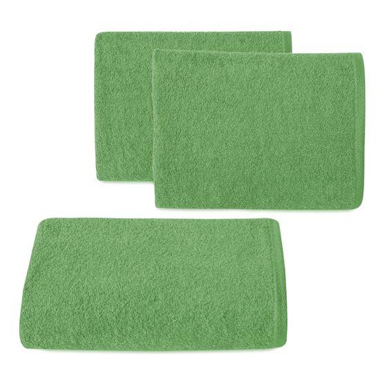 Ręcznik z bawełny gładki zielony 50x90cm - 50 X 90 cm - butelkowy zielony
