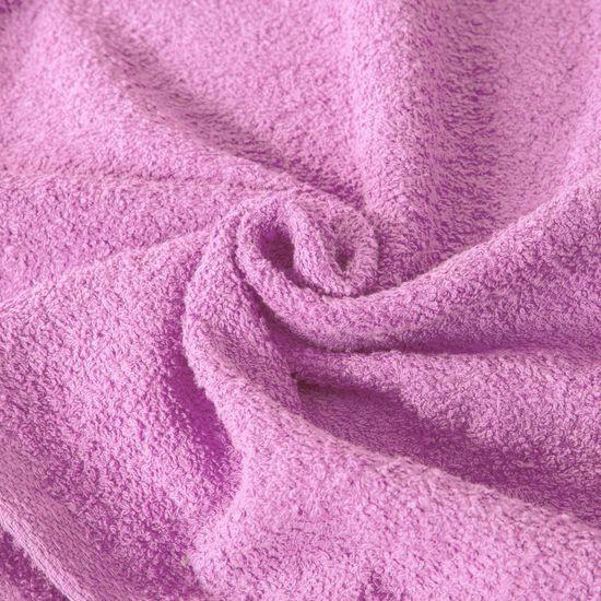 Ręcznik z bawełny gładki różowy 50x90cm - 50 X 90 cm