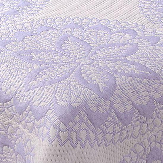 Narzuta dwustronna okrągły ornamentowy wzór 80%bawełna 220x240cm - 220x240