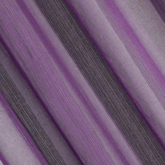 Delikatna fioletowa firana na przelotkach 140x250 - 140x250