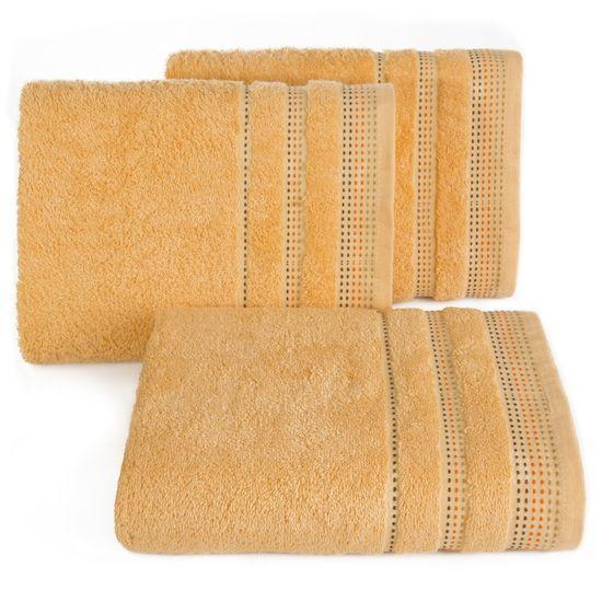 Morelowy ręcznik kąpielowy z dekoracyjnym stebnowaniem 30x50cm - 30 X 50 cm