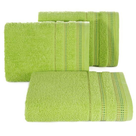 Ręcznik z bawełny z ozdobnym stebnowaniem 30x50cm - 30 X 50 cm - zielony