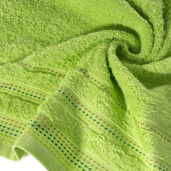 Ręcznik z bawełny z ozdobnym stebnowaniem 70x140cm - 70 X 140 cm - zielony