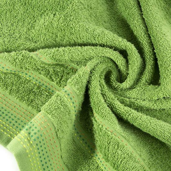 Ręcznik z bawełny z ozdobnym stebnowaniem 70x140cm - 70x140