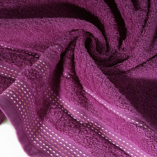 Ręcznik kąpielowy ze stebnowaniem 70X140cm - 70x140 - liliowy