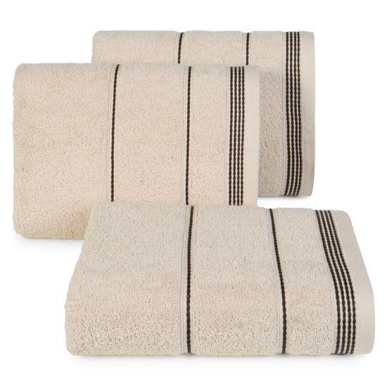 Ręcznik z bawełny ze sznurkowym zdobieniem 70x140cm - 70 X 140 cm