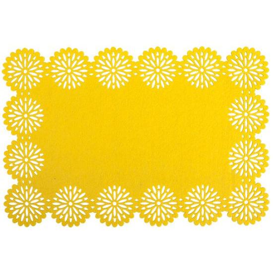 Filcowa podkładka stołowa bieżnik żółty 30x120 cm - 30 X 120 cm - żółty