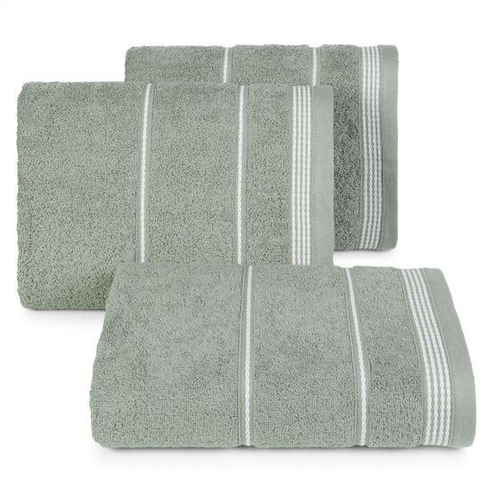 Ręcznik z bawełny ze sznurkowym zdobieniem 70x140cm - 70 X 140 cm - stalowy