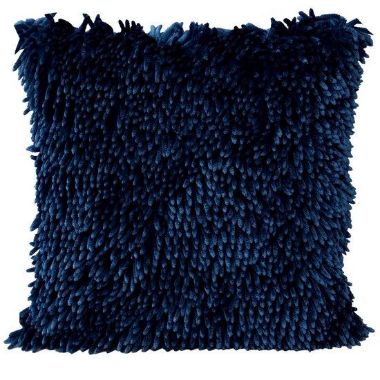 Poszewka na poduszkę włosie shaggy granatowa 40 x 40 cm  - 40x40