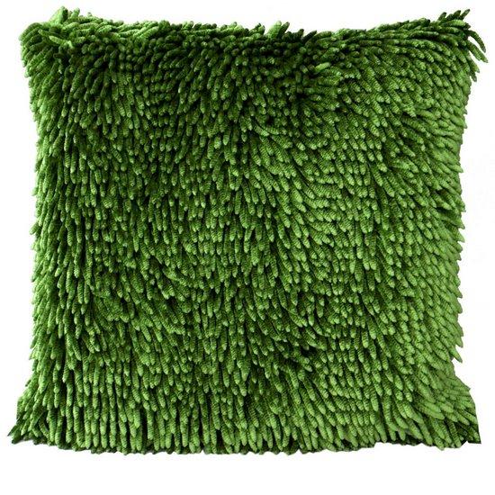 Poszewka na poduszkę włosie shaggy zielona 40 x 40 cm  - 40x40
