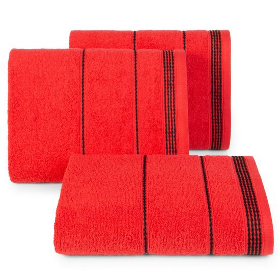 Ręcznik z bawełny ze sznurkowym zdobieniem 50x90cm - 50 X 90 cm