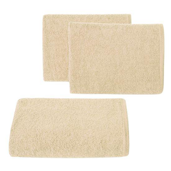 Gładki ręcznik kąpielowy bezowy 50x90 cm - 50 X 90 cm
