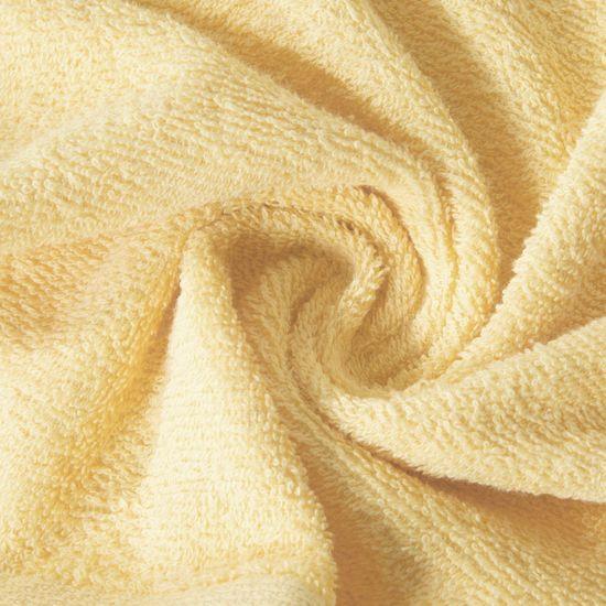 Ręcznik z bawełny gładki słoneczny 50x90cm - 50x90
