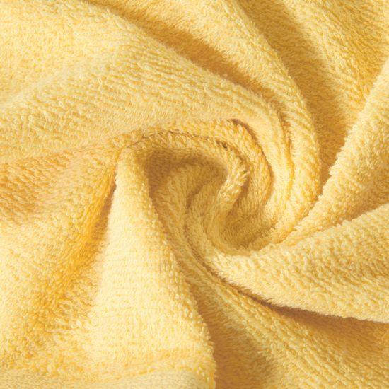 Ręcznik z bawełny gładki żółty 50x90cm - 50x90