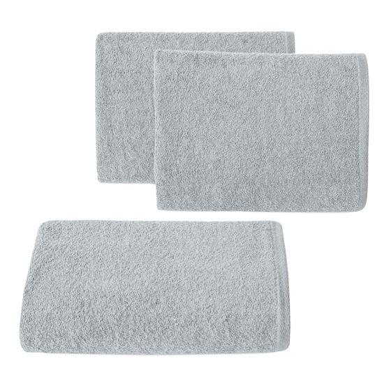 Ręcznik z bawełny gładki błękitny 50x90cm - 50 X 90 cm - niebieski