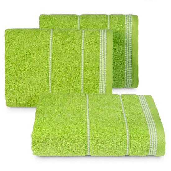 Ręcznik z bawełny ze sznurkowym zdobieniem 70x140cm - 70 X 140 cm - zielony