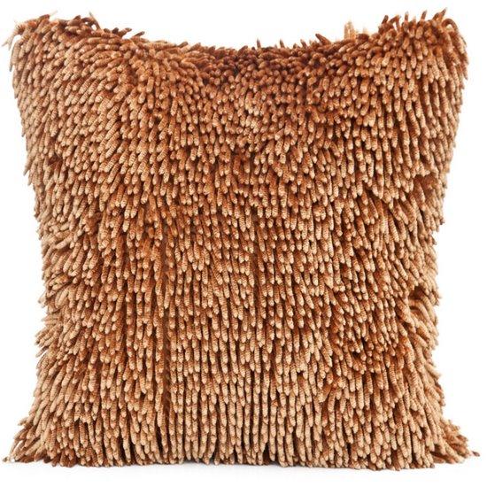 Poszewka na poduszkę włosie shaggy w kolorze miodowym 40 x 40 cm  - 40x40