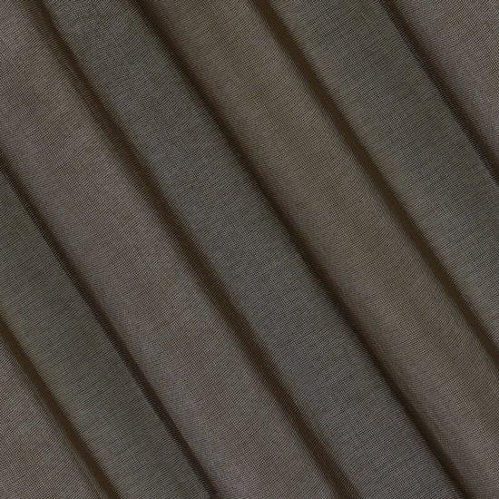 Półprzejrzysta czekoladowa firana na przelotkach 140x250 - 140 X 250 cm