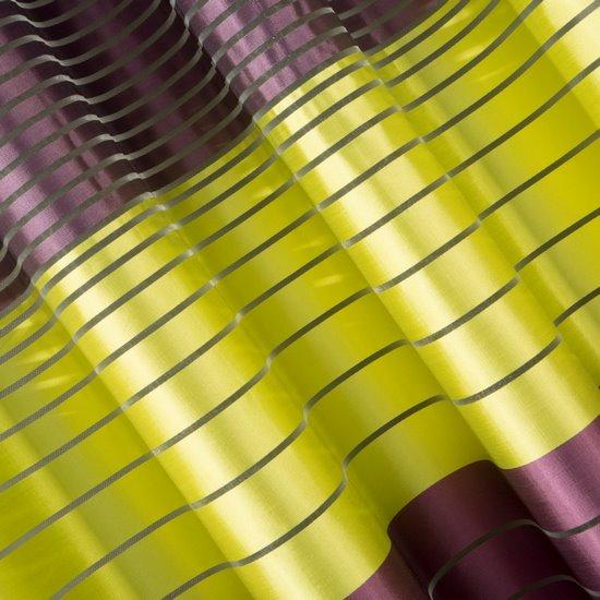 Oryginalna zasłona fioletowo-zielona 140x250 przelotki - 140 X 250 cm