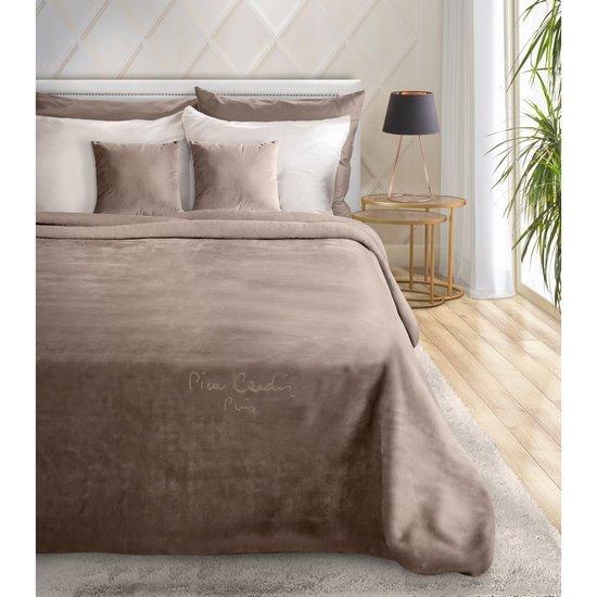 Kakaowy EKSKLUZYWNY KOC Clara od PIERRE CARDIN 220x240 cm z akrylem - 220 X 240 cm