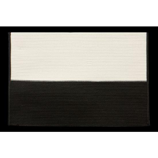 Dwukolorowa podkładka stołowa czarny i biały 30x45 cm - 30 X 45 cm - kremowy/czarny