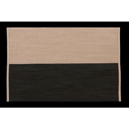 Dwukolorowa podkładka stołowa czarny i beż 30x45 cm - 30 X 45 cm - beżowy/czarny