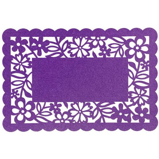 Podkładka stołowa ażurowa z filcu 30x120cm fiolet - 30 X 120 cm - fioletowy