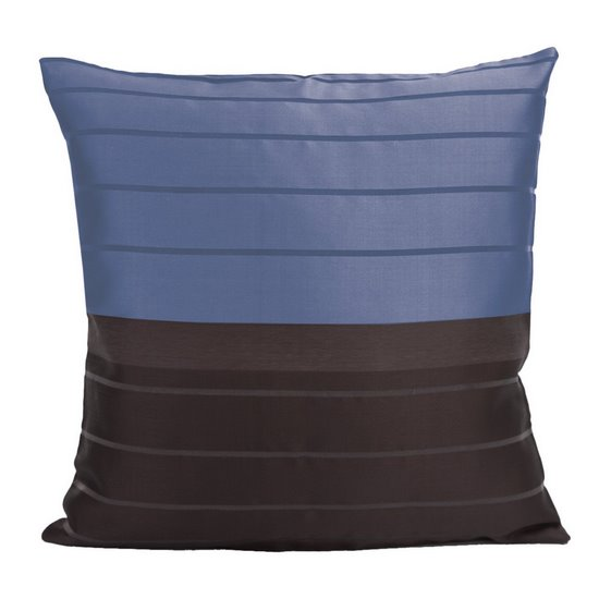 Poszewka na poduszkę 40 x 40 cm czarno granatowa  - 40 X 40 cm
