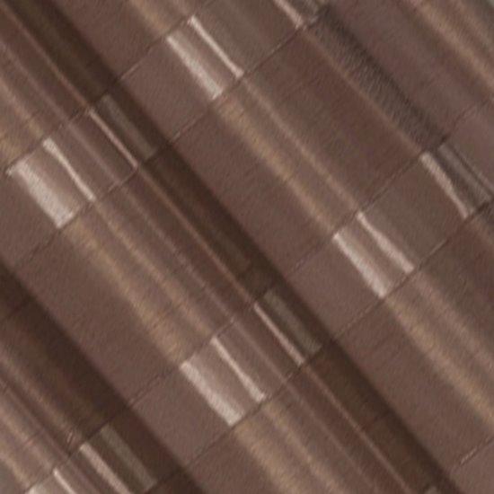 Zasłona w poziome pasy z połyskiem brązowa 140x250cm - 140x250