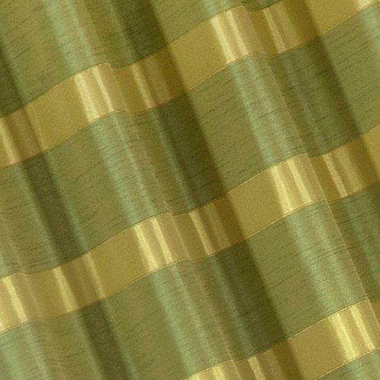 Zasłona w poziome pasy z połyskiem zielona 140x250cm - 140x250 - zielony
