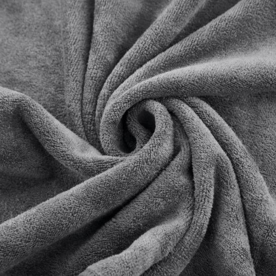 Ręcznik z mikrofibry szybkoschnący grafitowy 50x90cm  - 50 X 90 cm