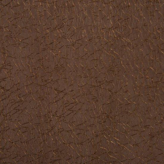 Zasłona dwuwarstwowa z delikatną siatką brązowa przelotki  135x300cm - 135x300
