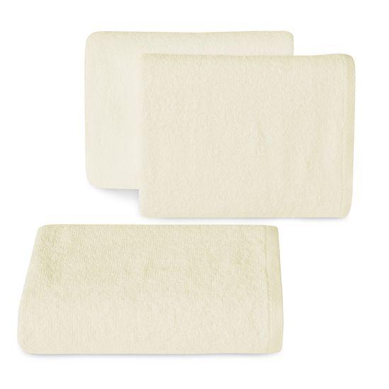 Ręcznik z bawełny gładki kremowy 30x50cm - 30 X 50 cm - kremowy