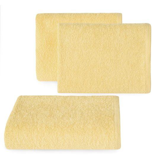 Ręcznik z bawełny gładki 30x50cm - 30 X 50 cm - żółty